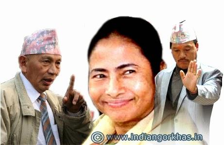 Subhash Ghisingh, Bimal Gurung and Mamata Banerjee
