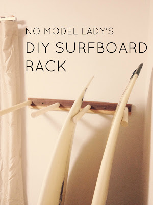 Do it yourself surfboard display rack