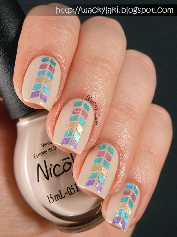 Wacky Laki: Nicole by OPI Be Awesome Glitter Placement