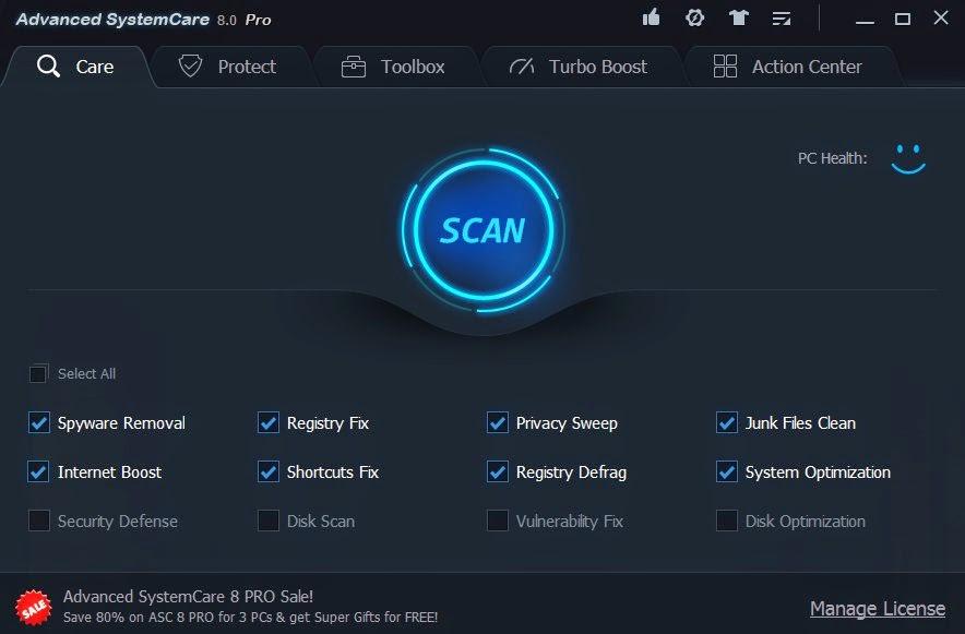 Advance SystemCare v8.0 Pro