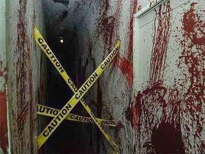 Ruangan yang penuh darah