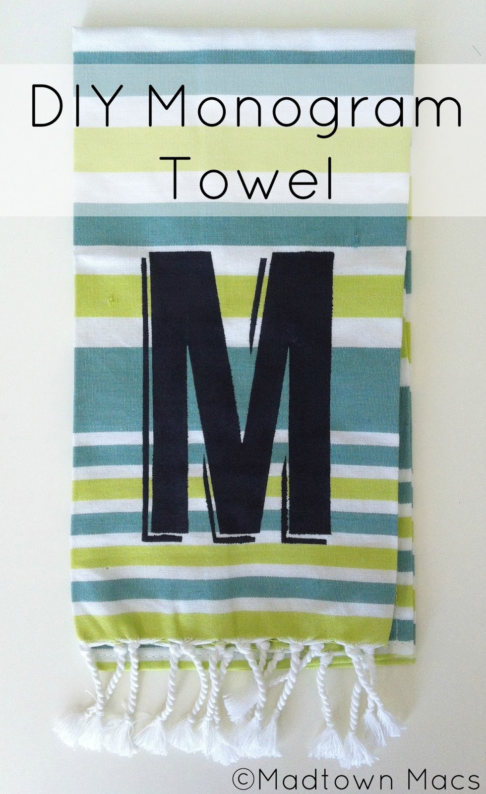 diy monogram towel  west elm hack