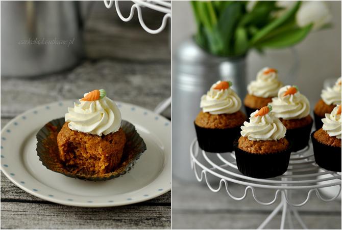 muffiny, marchewkowe, cupcakes, najlepszy przepis, mascarpone, krem, marchew