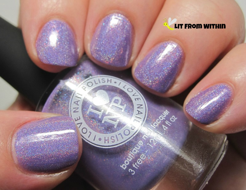 I Love Nail Polish Charmingly Purple, a gorgeous light purple holo