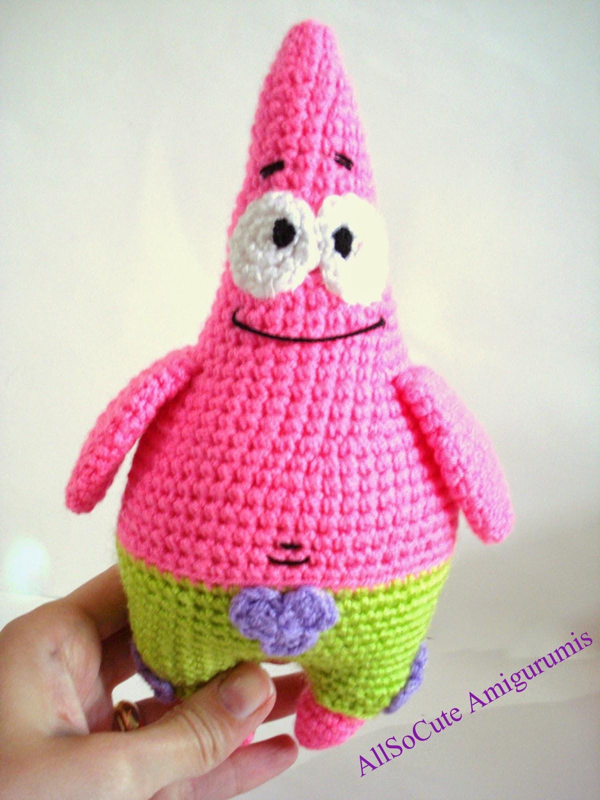 Amigurumi Crochet Needle Size : AllSoCute Amigurumis: Amigurumi Crochet PatrickStar and ...