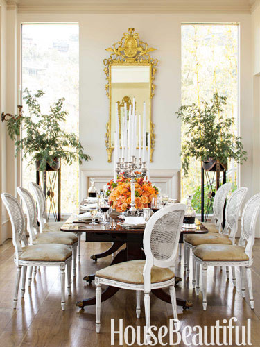 house beautiful neutral dining room decor