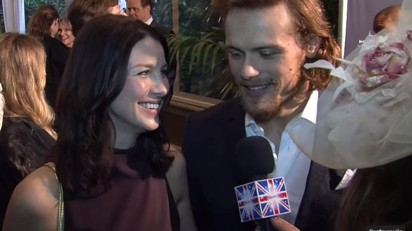 Sam Heughan y Caitriona Balfe para el Anglophile Channel
