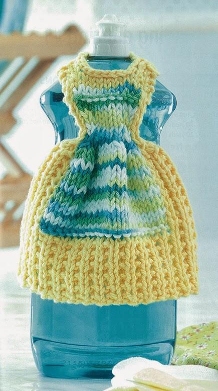 Ben Franklin Crafts and Frame Shop: Knit Dishcloth Dresses by Debbie Trainor