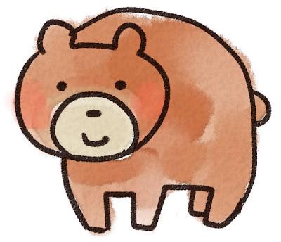 クマのイラスト(動物)