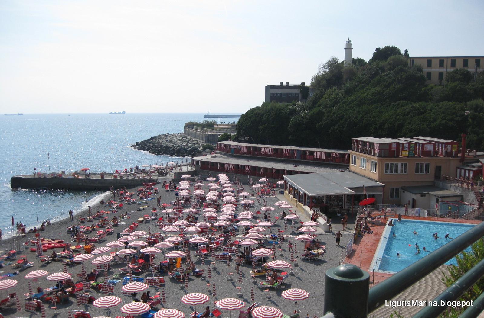 Liguriamarina genova spiagge e mare - Bagni chimici genova ...