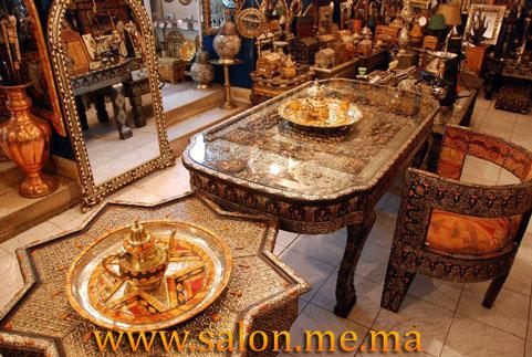Salon marocain d coration maison 2014 for Table a the marocaine