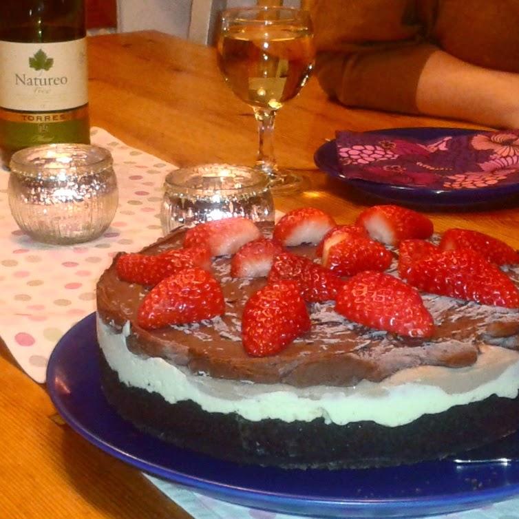 triple chocolate cheesecake, alkoholfritt vin, tre lager choklad cheesecake, choklad, chocolate, cheesecake