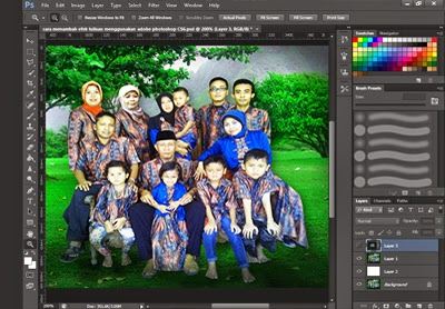 cara menambah efek tulisan menggunakan adobe photoshop CS6