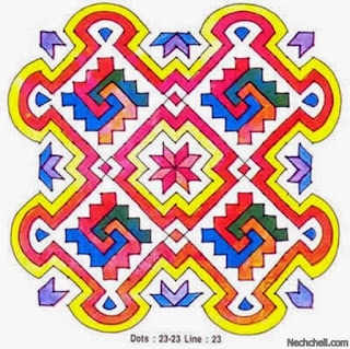 muggulu colorful pattern