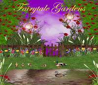 Fairytale Gardens digital fantasy backgrounds