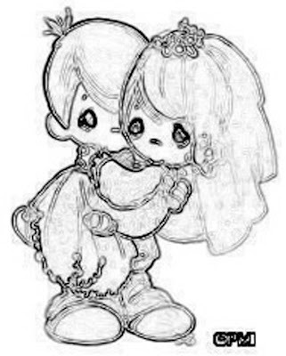 Precious Moments for Love Coloring Pages