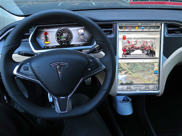 "Tesla Model S Dashboard with 17"" Screen"