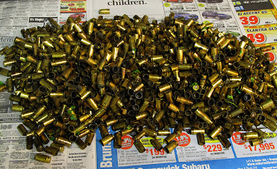 fired brass left as worthless scrap