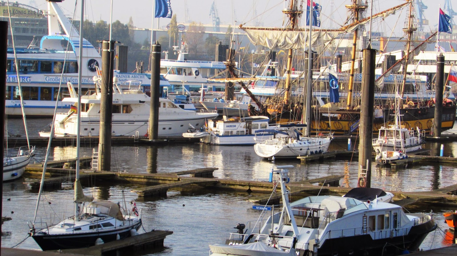 statki, woda, port