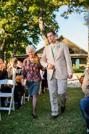 Ryan and Leslie, Seating of the Grandparents, Texas Ranch Wedding