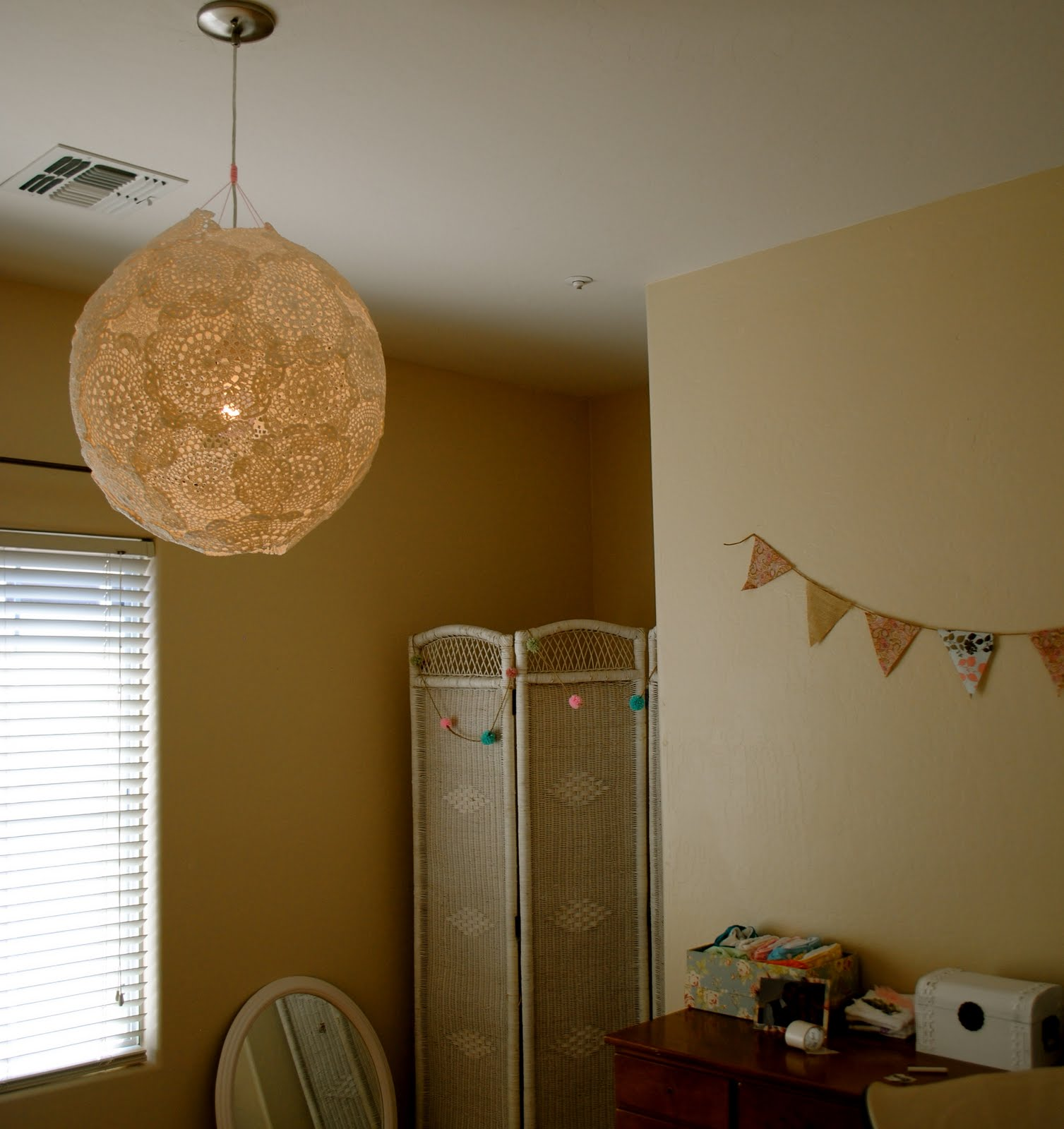 The johnstons diy doily lamp your own beautiful doily lamp arubaitofo Images
