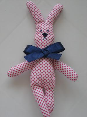 Muñeco conejito de trapo / Rag doll / Poupée en tissu