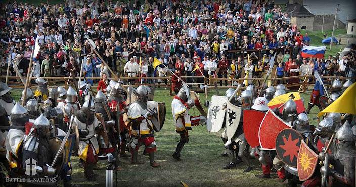 """A """"Battle of the Nations"""" realizada todos os anos, requer pequenos estádios para o crescente público"""