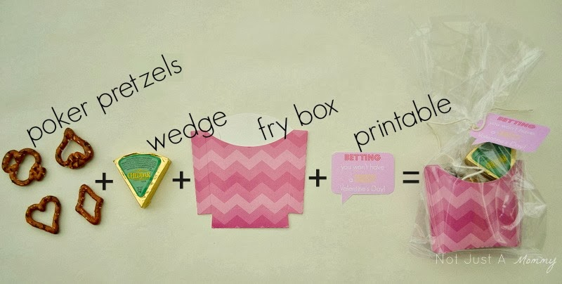 Inside Punny Valentine's Day Treat Boxes