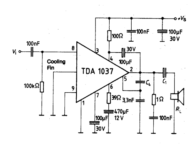 af power amplifier ic with thermal shutdown