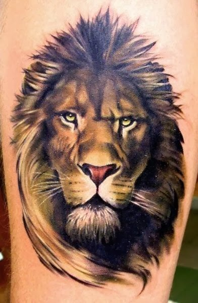 Best Animal Tattoos, Best Lion Tattoos (Gallery 5)