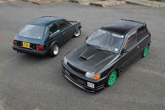Toyota Starlet P6 & Toyota Starlet P8, pocket rocket, klasyk, stary japoński samochód, mały