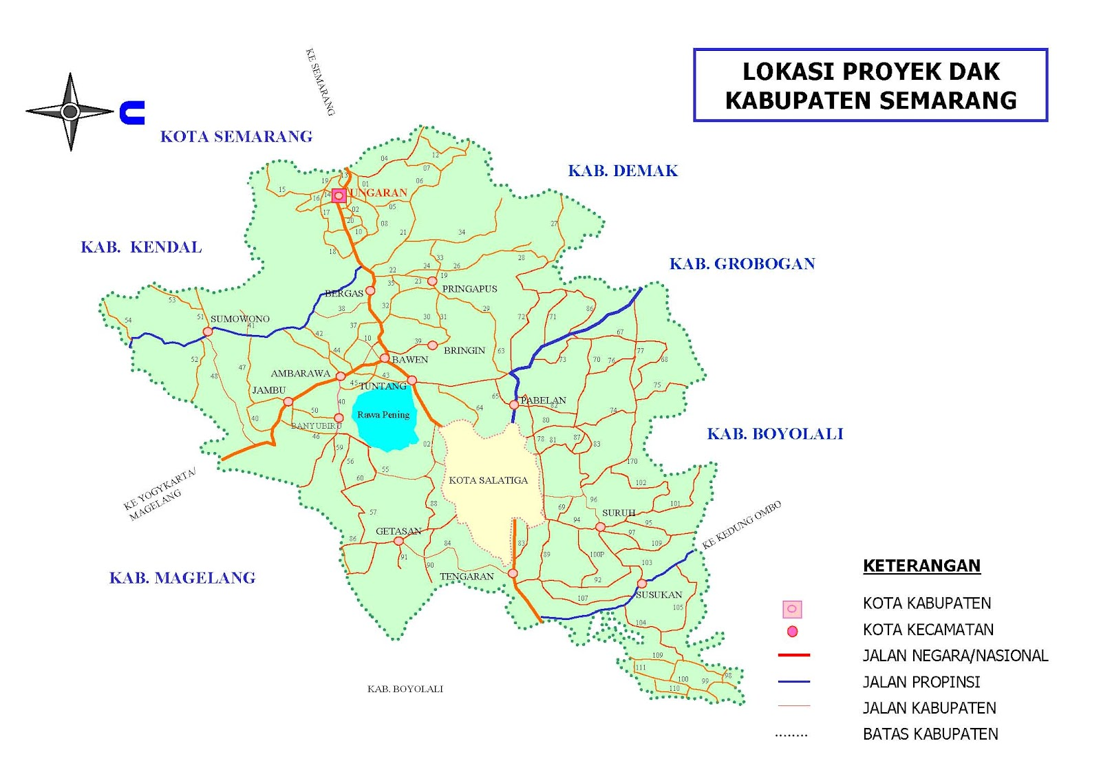 Peta Kota: Peta Kabupaten Semarang