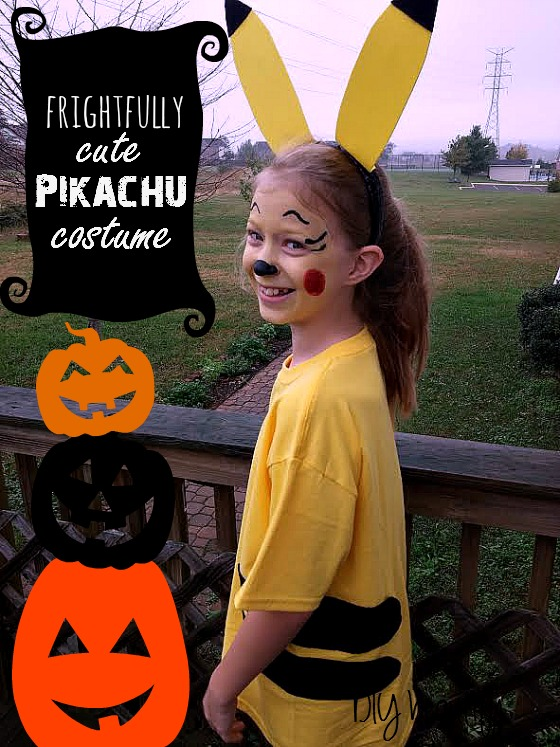 DIY Halloween Costume ~ Pikachu ~ using Tulip Body Arts products. See my tutorial at www.diybeautify..com