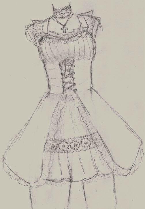 Minalouna's Art: dessin robes