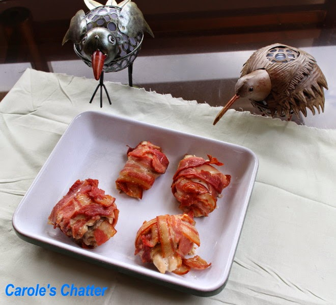 Chicken Thighs Wrapped in Bacon by Carole's Chatter