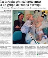 Noticia de curación de niños burbuja