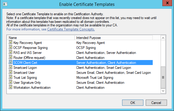 Scom certificate for gateways untrusted servers system center presumably if you are going through this process you want the template sooner rather than later well if you try to issue the certificate now yadclub Images