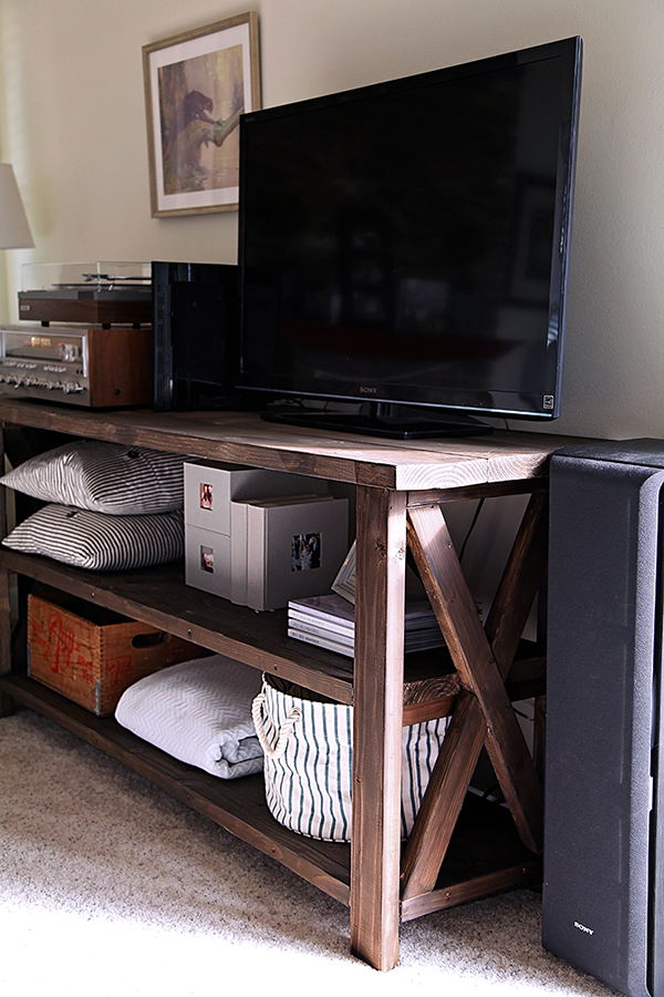 DIY Farmhouse Media Console