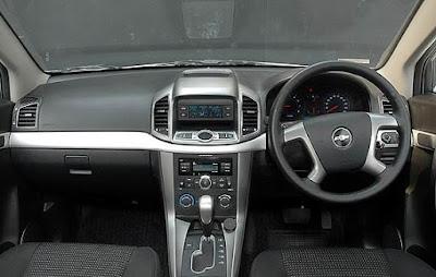 Interior kabin Chevrolet Captiva Bensin/Diesel Facelift