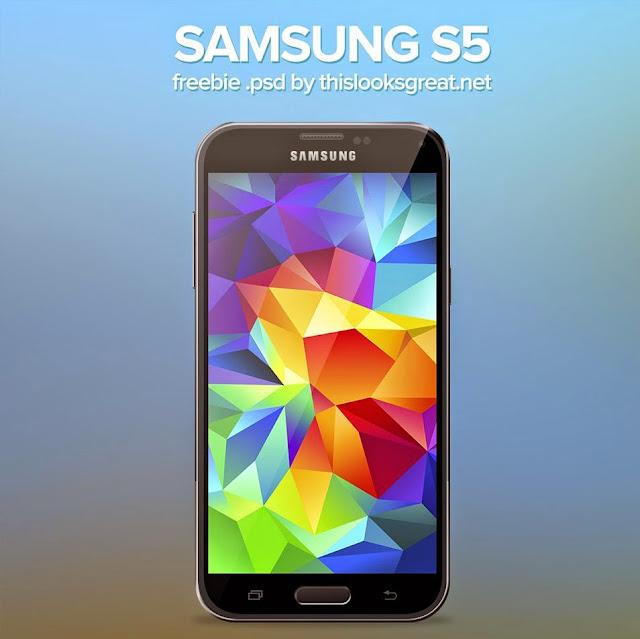 Free PSD Samsung Galaxy S5 Mockup