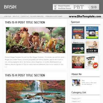 Basix blogger template