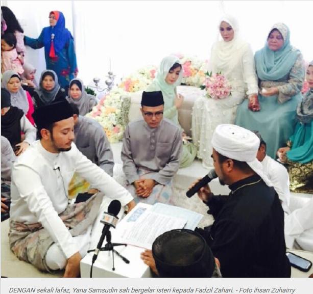 Gambar Majlis akad nikah Yana Samsudin dan Fadzil Zahari