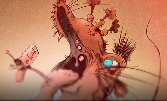 Ilustración, Rata-Topo-Monstruo de Francisco Sanabria