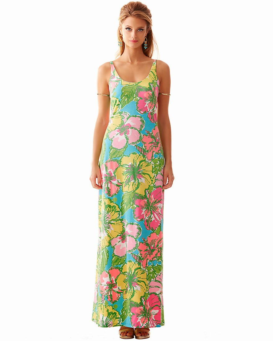 lilly pulitzer palm maxi dress big flirt on sale