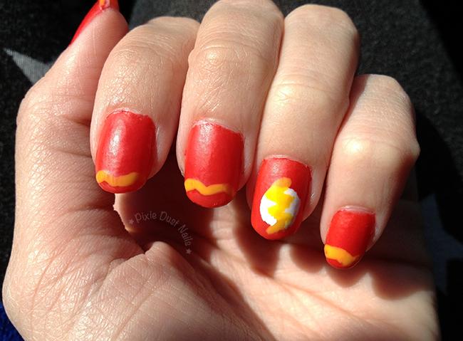 The Flash Nail Art