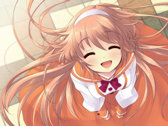 anime smiling