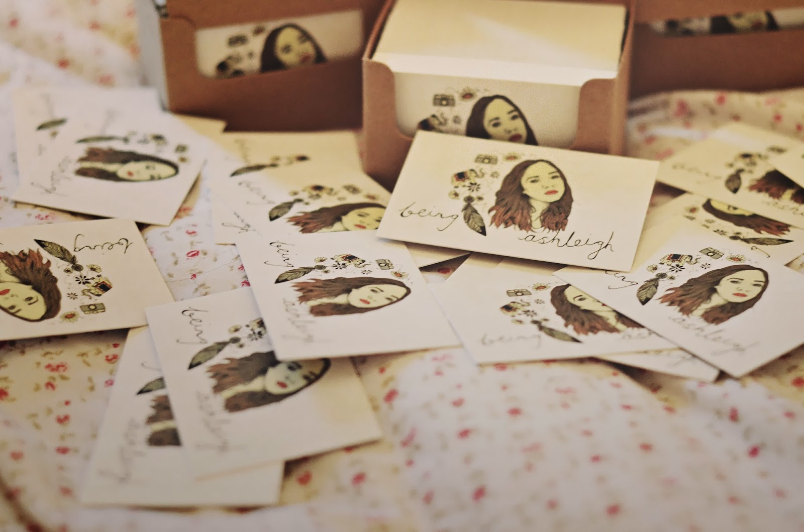 instant print blog business cards | Being Ashleigh | fashion ...
