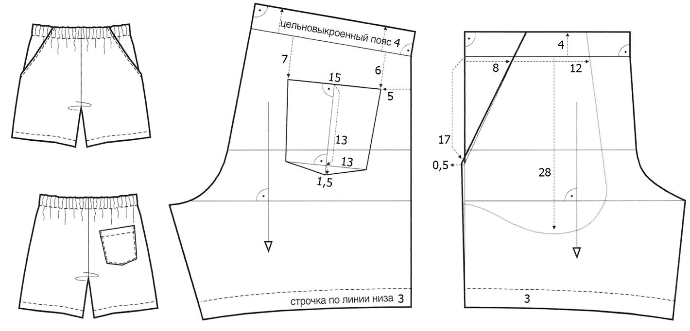 Инструкция как сделать шорты 90