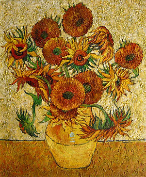 Van gogh a bouquet of fourteen sunflowers in a vase 0 bmp