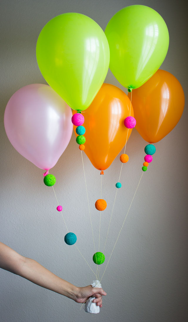 Colorful foam ball balloons